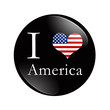 I Love America button