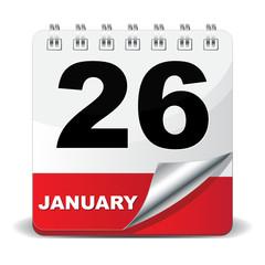 26 JANUARY ICON
