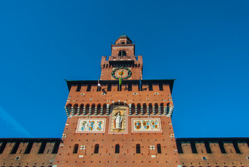 La torre del castello Sforsesco