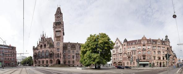 Rathausplatz Saarbrücken Panorama
