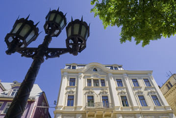 Staatsbibliothek in der Altstadt von Riga, Lettland