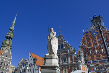 Das Rolanddenkmal in Riga, Lettland