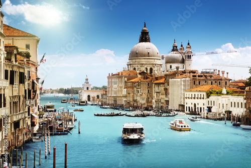 Grand Canal and Basilica Santa Maria della Salute, Venice, Italy - 60694505