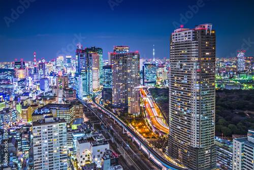 Fotobehang Tokyo Tokyo, Japan at the Minato Ward District