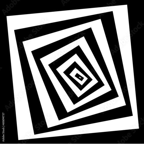 Obraz na Plexi Spiral effect background illustration. vector
