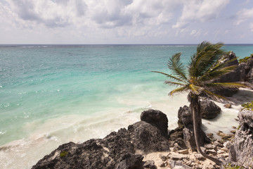 Beautiful beach at Tulum Mexico, Yutacan peninsula
