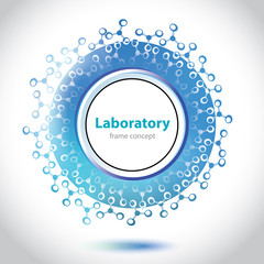 Abstract light blue medical laboratory circle element.