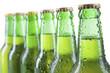 Closeup of beer bottles
