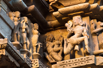 Apsaras, Sculptors ,Khajuraho,  India, UNESCO site