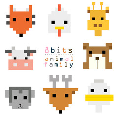 head animal pixel art