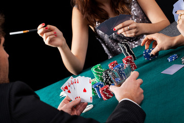 Poker gambling table