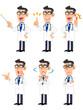 医者 6種類のポーズと仕草