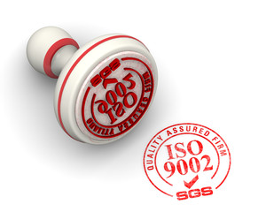 ISO 9002 SGS. Seal and imprint