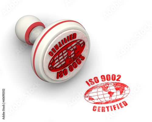 ISO 9002 Certified. Seal and imprint