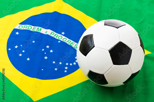 Brazil Flag and football