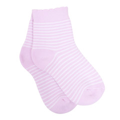 Striped socks isolated on white background