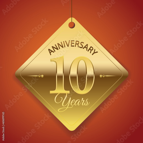 10th Anniversary poster / template/ tag design Vector Background
