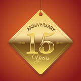 15th Anniversary poster / template/ tag design Vector Background
