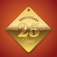 25th Anniversary poster / template/ tag design Vector Background
