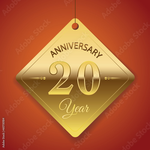 20th Anniversary poster / template/ tag design Vector Background