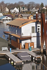 Floating houses in Portland Oregon.