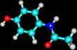 Paracetamol molecular model