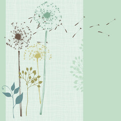 Floral Seamless Card Blue