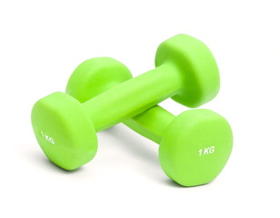 two dumbbells one kg