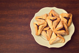 Haman ears cookies for Jewish festival of Purim