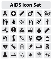 AIDS Icon set