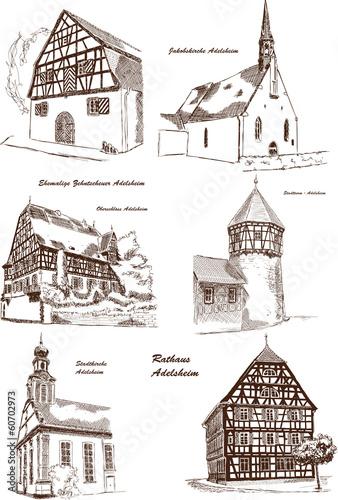 Adelsheim Stadtansichten Stadt Architektur Gebäude