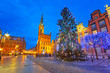 Christmas tree in old town of Gdansk, Poland