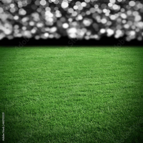 Grass field at arena