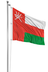 3D Oman flag