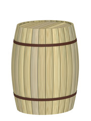 barrel on a white background