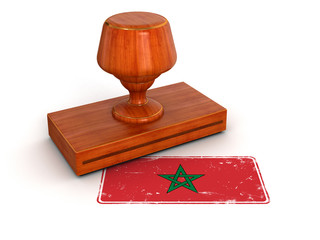 Rubber Stamp Morocco flag (clipping path included)