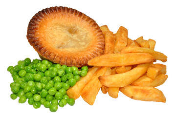 Pie And Chips With Peas