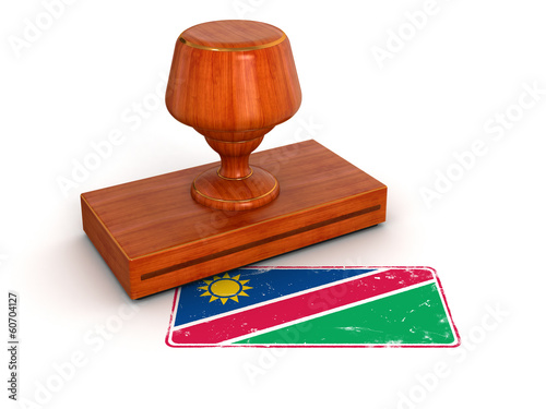Rubber Stamp Namibia flag (clipping path included)