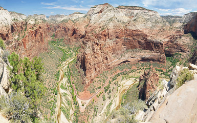 View from Angel's Landing in Zion National Park, Utah