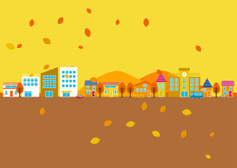 秋の町並み