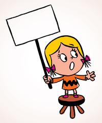 Little protest girl