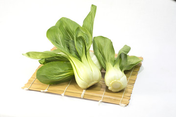 Chinese Vegetable cabbage isolated on white
