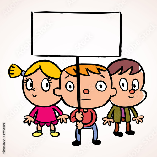 Three protest kids