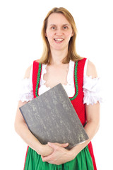 Bavarian woman with some documents