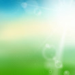 Vector blurred summer background with sun