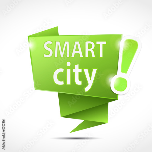 origami speech bubbles : smart city (cs5)