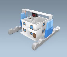Huge 3D printer build a house
