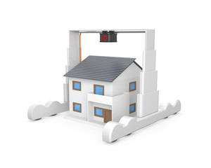 Huge industrial 3D printer build a house