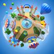 Amusement park planet - 60708519