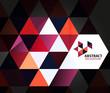 Purple mosaic triangle business template